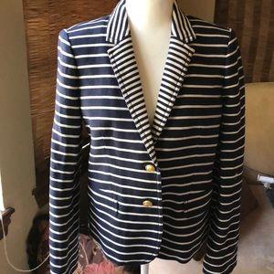 JCrew stripes schoolboy blazer